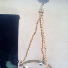 Vintage: LAMPARA DE BRONCE SIGLO XIX. Lote 203158625