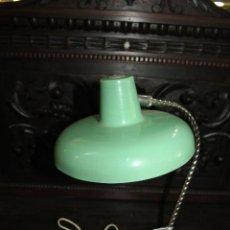 Vintage: LAMPARA SOBREMESA VERDE AGUA DE LOS AÑOS 50. VER FOTOS. Lote 203246092