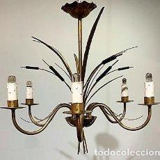 Vintage: LÁMPARA DE TECHO DE HIERRO FORJA. Lote 203282438