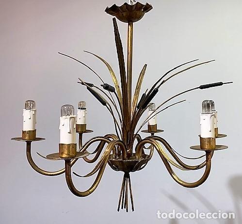 Vintage: Lámpara de techo de hierro forja - Foto 2 - 203282438