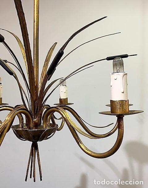 Vintage: Lámpara de techo de hierro forja - Foto 3 - 203282438