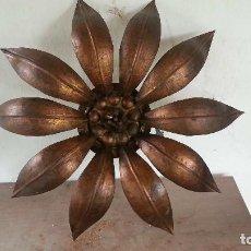 Vintage: ANTIGUA LAMPARA AÑOS 50 SOL O FLOR. Lote 204281197