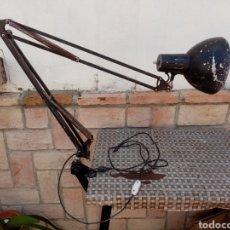 Vintage: FLEXO DE FASE ARTICULADO , NEGRO ARQUITECTURA , FUNCIONA. Lote 204304863
