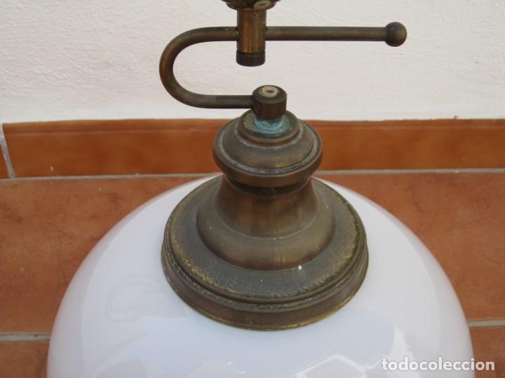 Vintage: Lampara tipo despacho. Falta el cable electrico. - Foto 3 - 204349908