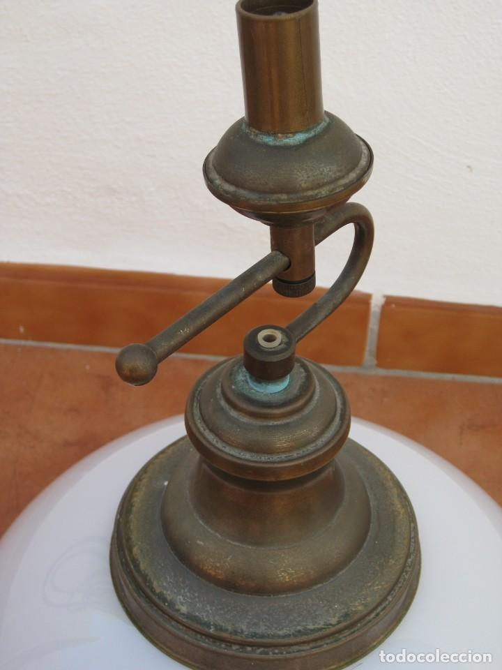 Vintage: Lampara tipo despacho. Falta el cable electrico. - Foto 5 - 204349908