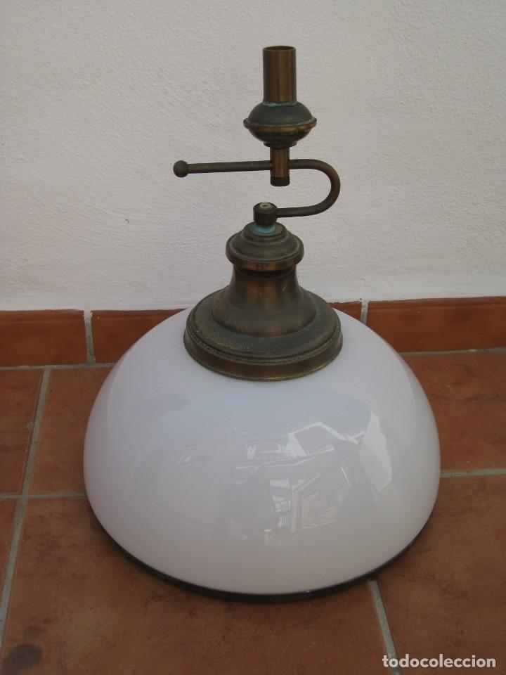 Vintage: Lampara tipo despacho. Falta el cable electrico. - Foto 9 - 204349908