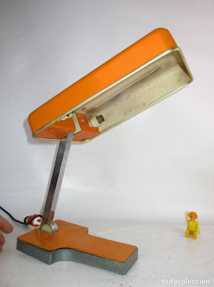 LAMPARA FASE VINTAGE POP NARANJA AÑOS 60 (Vintage - Lámparas, Apliques, Candelabros y Faroles)