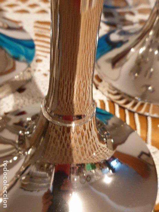 Vintage: PORTAVELAS CANDELABROS EN METAL MUY GRANDES - Foto 19 - 205198836