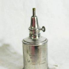 Vintage: LAMPARA DE MESA O APLIQUE DE LATON - PEQUEÑO CANDIL DE ACEITE PIGEON - QUINQUE ANTIGUO FRANCES. Lote 205260421