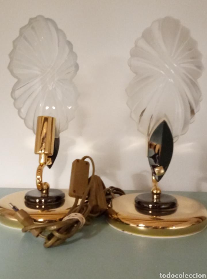 Vintage: Dos lámparas mesilla de noche años 80 - Foto 3 - 205340853