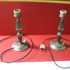 Vintage: PAREJA PIE DE LAMPARA MESITA DE NOCHE VINTAGE. Lote 205547808