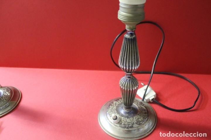 Vintage: PAREJA PIE DE LAMPARA MESITA DE NOCHE VINTAGE - Foto 13 - 205547808