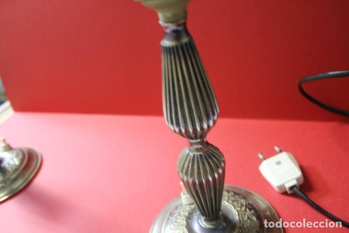 Vintage: PAREJA PIE DE LAMPARA MESITA DE NOCHE VINTAGE - Foto 15 - 205547808