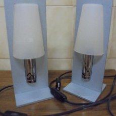 Vintage: LOTE DE DOS LAMPARAS MESITA DE NOCHE MIDEN 27CM DE ALTO. Lote 205568890