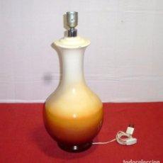 Vintage: LAMPARA DE MESA DE CERAMICA VIDRIADA.52 X 23 CM.. Lote 205604830