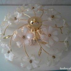 Vintage: LAMPARA DE TECHO VINTAGE 3 BOMBILLAS Y FUNCIONA. Lote 205606061