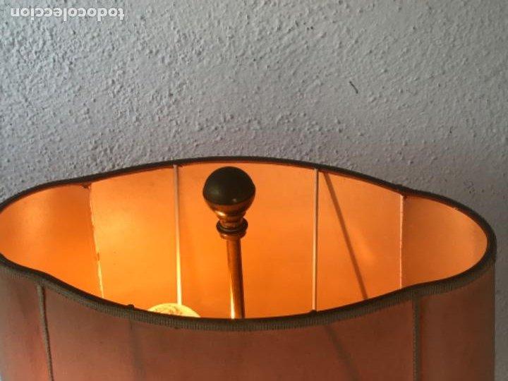 Vintage: LAMPARA DE SOBREMESA DE LATÓN TIPO VALENTÍ. 1970'S VINTAGE. - Foto 3 - 205721971