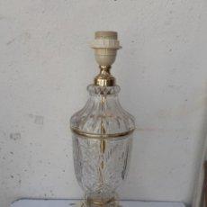 Vintage: LAMPARA CRISTAL TALLADO. Lote 206395083