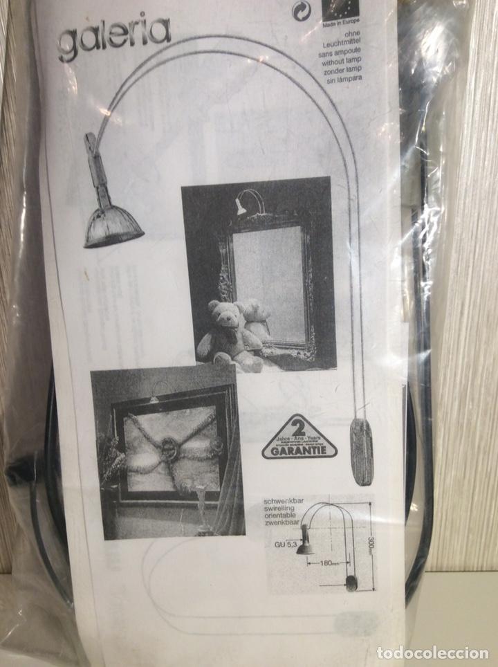 Vintage: LÁMPARA APLIQUE NEGRA PARA ILUMINAR CUADRO CON BOMBILLA 12V 35w - Foto 2 - 206489238