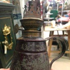Vintage: ANTIGUO QUINQUE DE METAL - MEDIDA 17 CM - LE FALTA TULIPA. Lote 206566717