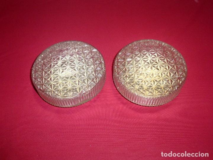 PAREJA DE APLIQUES PLAFON TECHO O PARED VINTAGE.20 CM. (Vintage - Lámparas, Apliques, Candelabros y Faroles)