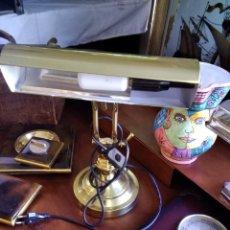 Vintage: LAMPARA ESCRITORIO DORADA. Lote 206912525
