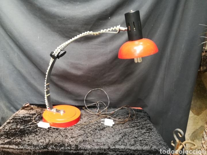 LÁMPARA ROJA ART DECO (Vintage - Lámparas, Apliques, Candelabros y Faroles)