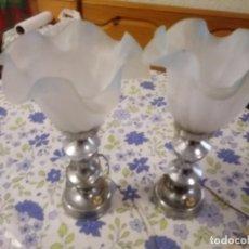 Vintage: PAREJA DE LAMPARAS DE NOCHE DE LOS AÑOS 70. Lote 207605978