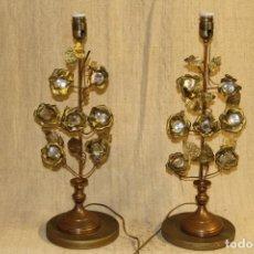 Vintage: LAMPARA DE SOBREMESA PAREJA. Lote 207947490
