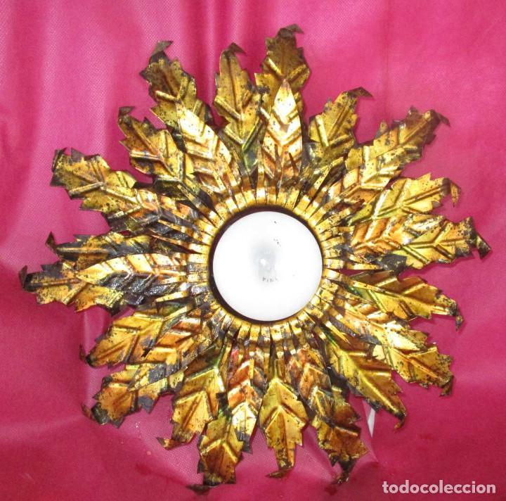 Vintage: BESTIAL TRIO DE LAMPARAS SOL FERROART DISEÑO ESPAÑOL MIDCENTURY - Foto 3 - 208786150