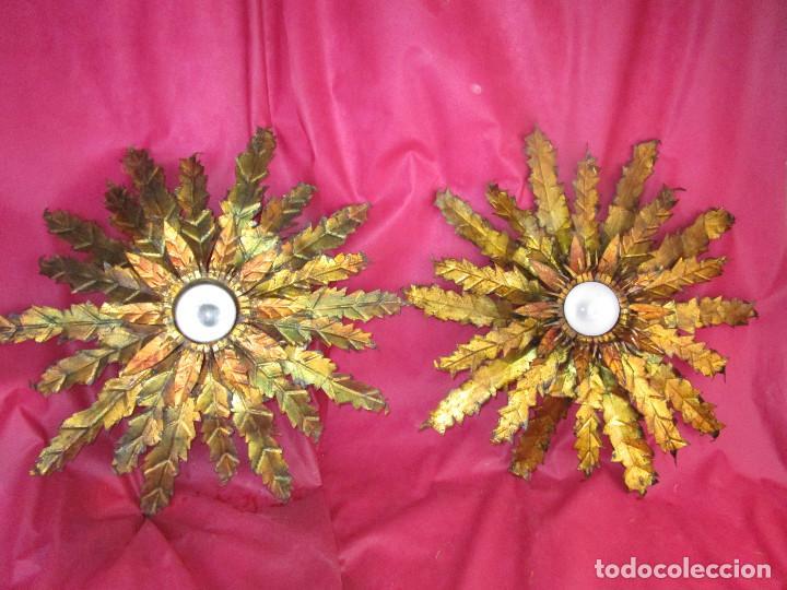 Vintage: BESTIAL TRIO DE LAMPARAS SOL FERROART DISEÑO ESPAÑOL MIDCENTURY - Foto 7 - 208786150