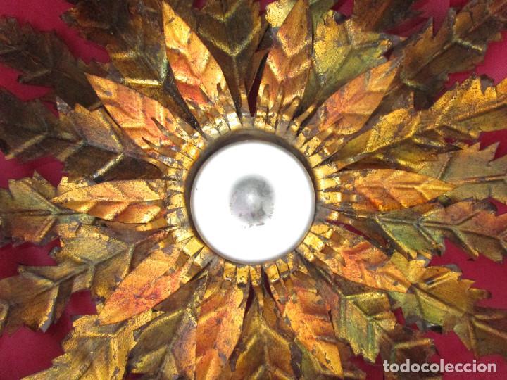 Vintage: BESTIAL TRIO DE LAMPARAS SOL FERROART DISEÑO ESPAÑOL MIDCENTURY - Foto 9 - 208786150