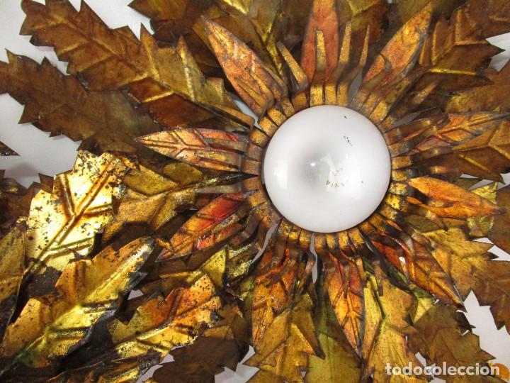 Vintage: BESTIAL TRIO DE LAMPARAS SOL FERROART DISEÑO ESPAÑOL MIDCENTURY - Foto 10 - 208786150