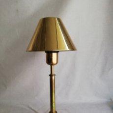 Vintage: PRECIOSA LAMPARA DE MESA DE LA PRESTIGIOSA CASA VALENTI VINTAGE ESPAÑA EN BRONCE DORADO.. Lote 209680210