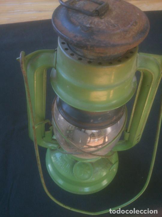 Vintage: Lámpara-farol vintage de parafina, marca Meva modelo 863, color VERDE. - Foto 2 - 209885348