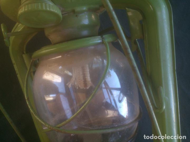 Vintage: Lámpara-farol vintage de parafina, marca Meva modelo 863, color VERDE. - Foto 5 - 209885348