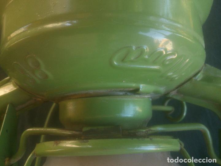 Vintage: Lámpara-farol vintage de parafina, marca Meva modelo 863, color VERDE. - Foto 6 - 209885348