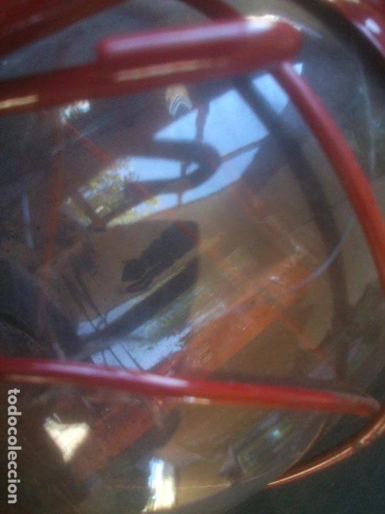 Vintage: Lámpara-farol vintage de parafina, marca Meva modelo 864, color ROJO. - Foto 5 - 209885680