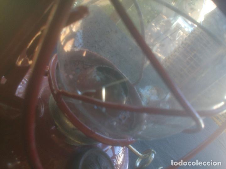 Vintage: Lámpara-farol vintage de parafina, marca Meva modelo 864, color ROJO. - Foto 12 - 209885680