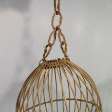 Vintage: LAMPARA DE TECHO DE BAMBÚ. Lote 210005086