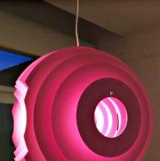 Vintage: LAMPARA DE TECHO DISEÑO SUPERNOVA DE FOSCARINI DESIGN EN COLOR MAGENTA ORIGINAL. Lote 210076147