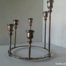 Vintage: CANDELABRO CIRCULAR MID CENTURY AÑOS 50-60 // BAÑADO EN PLATA VINTAGE MODERN HOLLYWOOD REGENCY. Lote 210120588