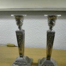 Vintage: CANDELEROS NEOCLÁSICOS ESTILO JORGE III. Lote 211515112