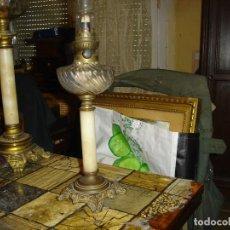 Vintage: MUY BONITO QUINQUE SIGLO XIX VER FOTOS DEPOSITO EN CRISTAL SOPLADO EN UNA FORMA VER FOTOS. Lote 212278782