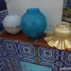 Vintage: TRES TULIPAS ANTIGUAS DE CRISTAL. Lote 212604338