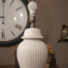 Vintage: ANTIGUA LAMPARA PORCELANA CH HISPANIA MANISES SELLO EN BASE.. Lote 212940912