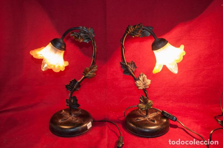 BONITA PAREJA DE LAMPARAS DE SOBREMESA ESTILO MODERNISTA (NO DE LA ÉPOCA) (Vintage - Lámparas, Apliques, Candelabros y Faroles)