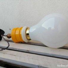Vintage: LAMPARA TECHO VINTAGE BOMBILLA METALARTE BULB INGO MAURER ESPAÑA AÑOS 60. Lote 213750476