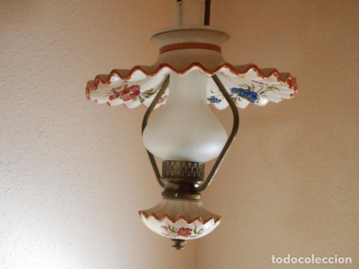 LAMPARA QUINQUEL DE TECHO (Vintage - Lámparas, Apliques, Candelabros y Faroles)