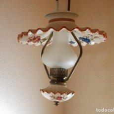 Vintage: LAMPARA QUINQUEL DE TECHO. Lote 215815191